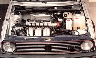 erster VR6 im Golf II